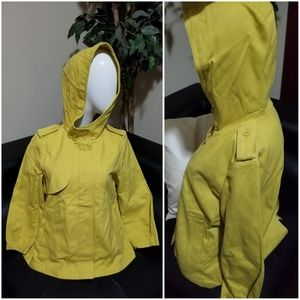 🍁 Gap Hooded Jacket - Mustard Yellow - Small